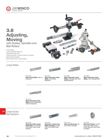 Page 130 of 3.8 Adjusting, Moving with Guides, Spindles and Ball Rollers