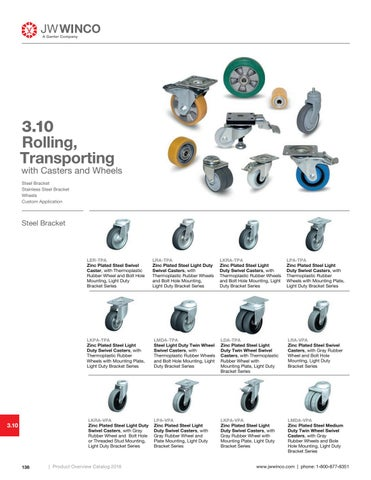 Page 140 of 3.10 Rolling, Transporting with Casters and Wheels