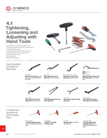 Page 146 of 4.1 Tightening, Loosening and Adjusting with Hand Tools