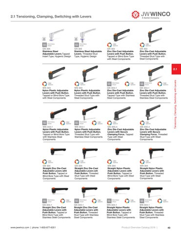 Page 45 of 2.1 Tensioning, Clamping, Switching with Levers
