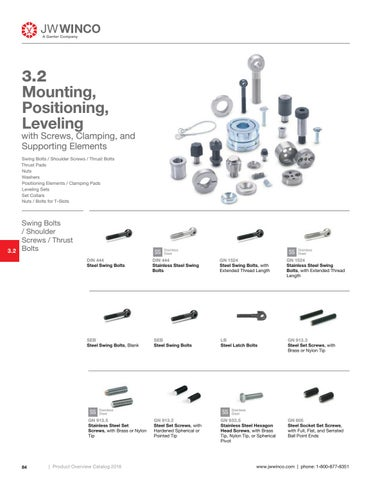 Page 86 of 3.2 Mounting, Positioning, Leveling with Screws, Clamping and Supporting Elements