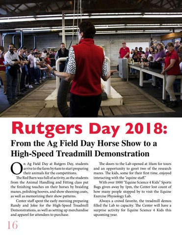 Page 16 of Rutgers Day 2018: From the Ag Field Day Horse Show to a High-Speed Treadmill Demonstration