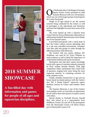 Page 20 of 2018 SUMMER SHOWCASE