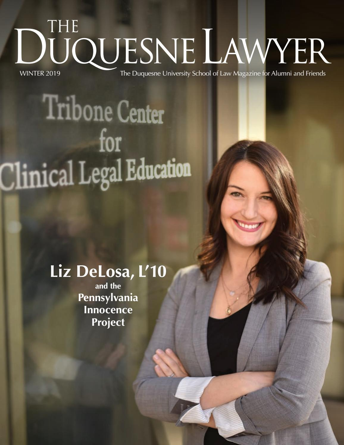 Duquesne Lawyer magazine, fall/winter 2018 by Duquesne University