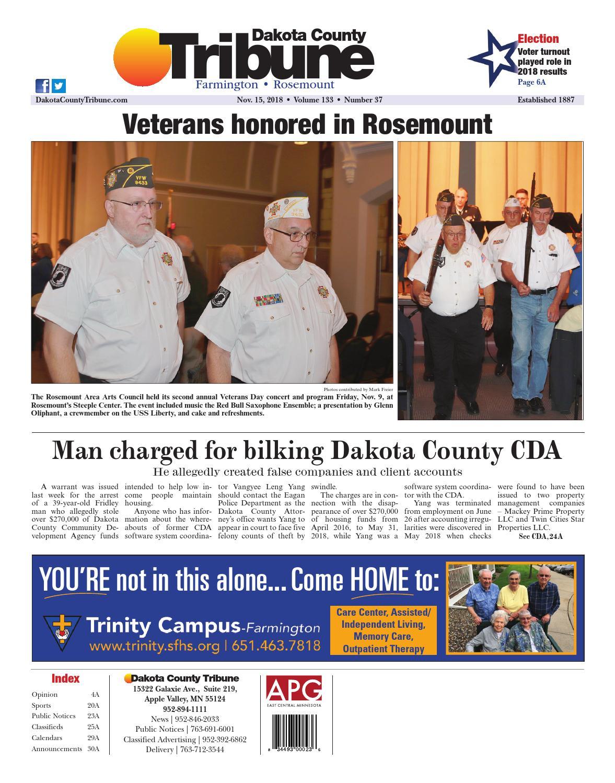 Dakota County Tribune 11/15/18 by Dakota County Tribune - issuu