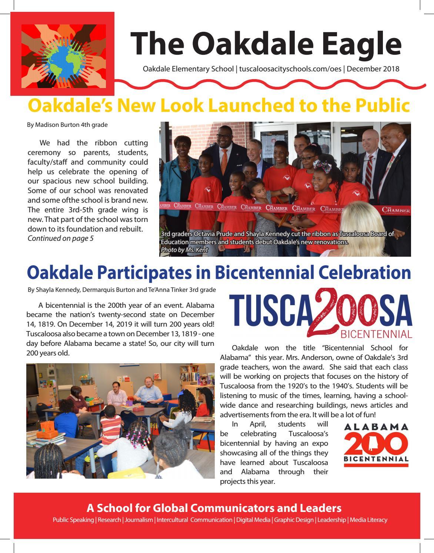 Oakdale Eagle Winter 2018 by teacherlibrarian - issuu