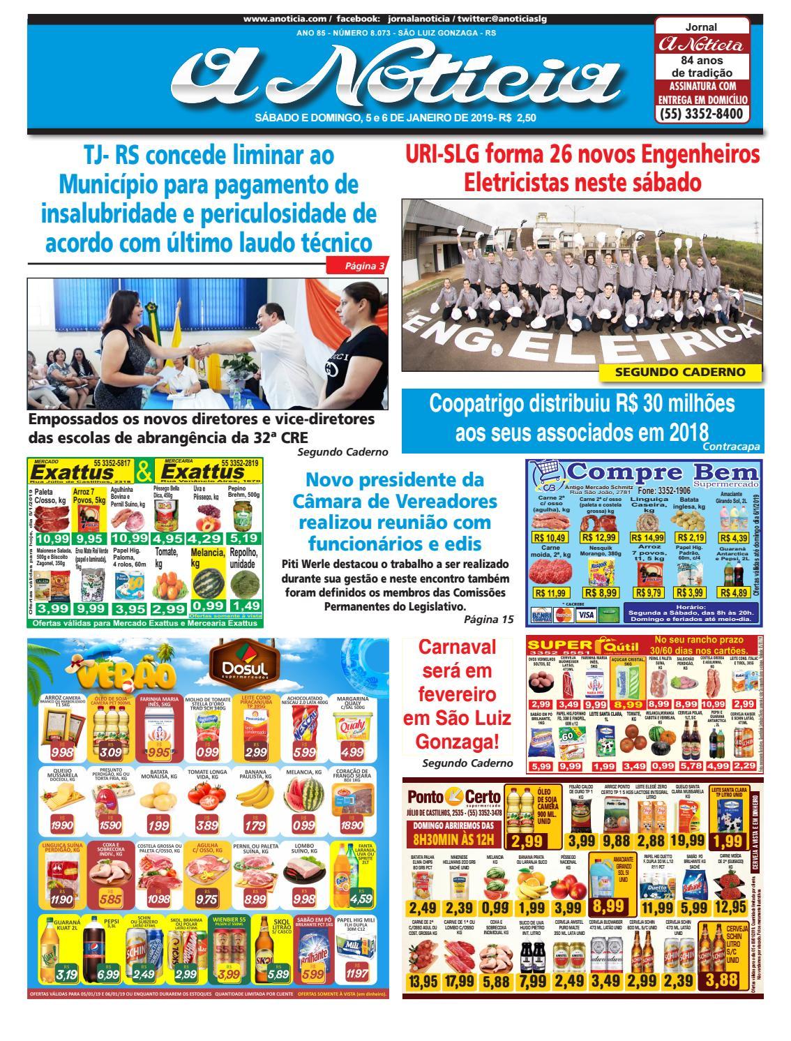 ef75da131fb Edição de 5 e 6 de janeiro de 2019 by Jornal A Notícia - issuu