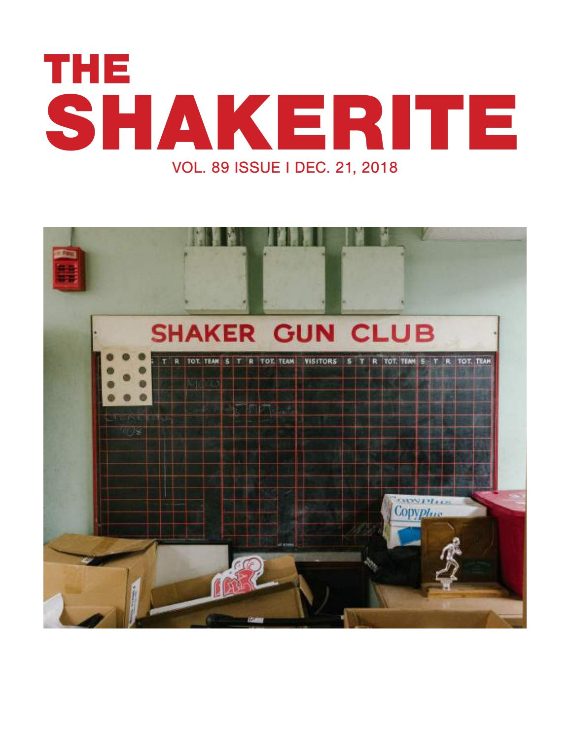 Volume 89 Issue I by The Shakerite - issuu