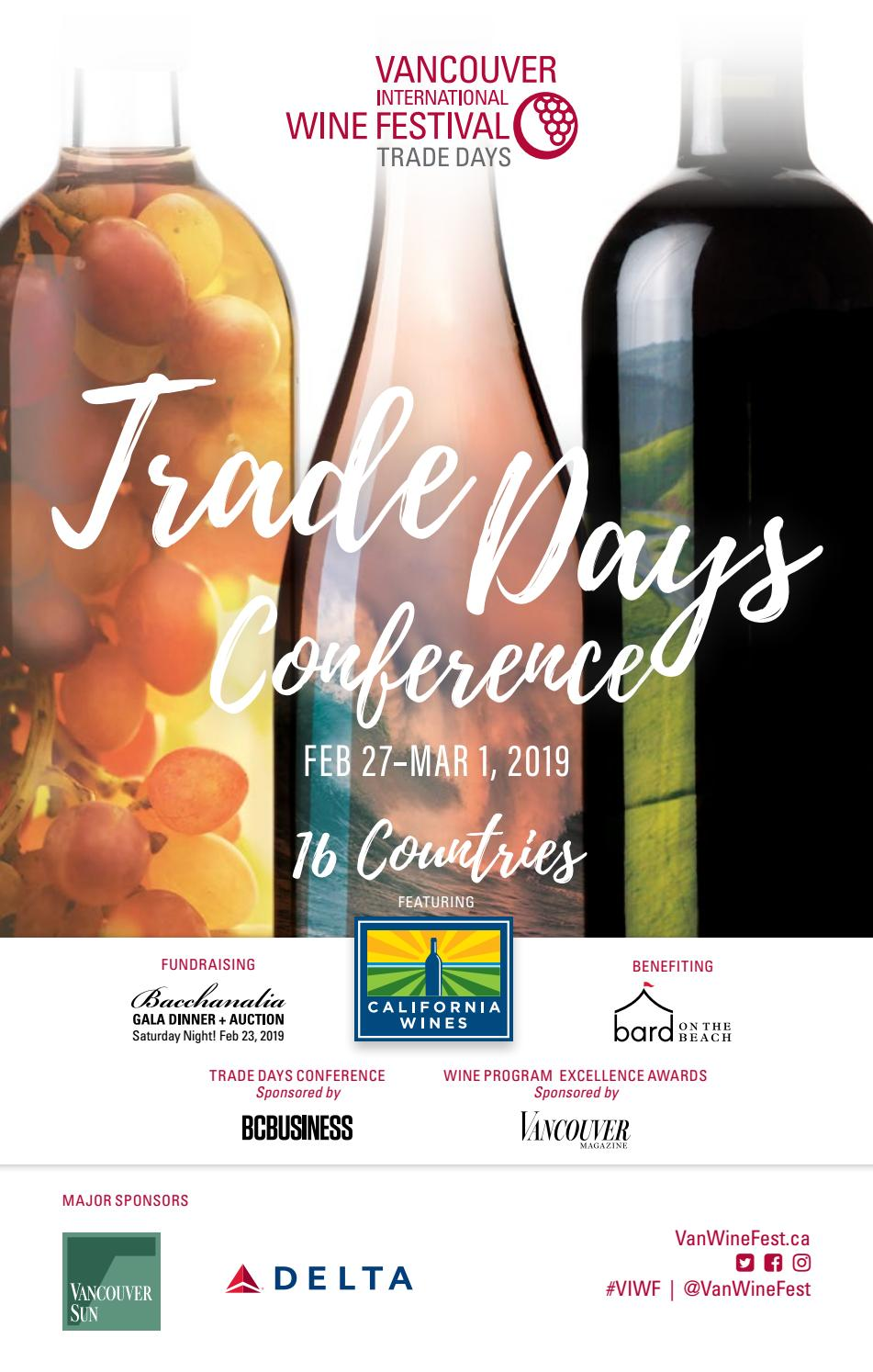 2019 VIWF Trade Days Conference by Vancouver International Wine