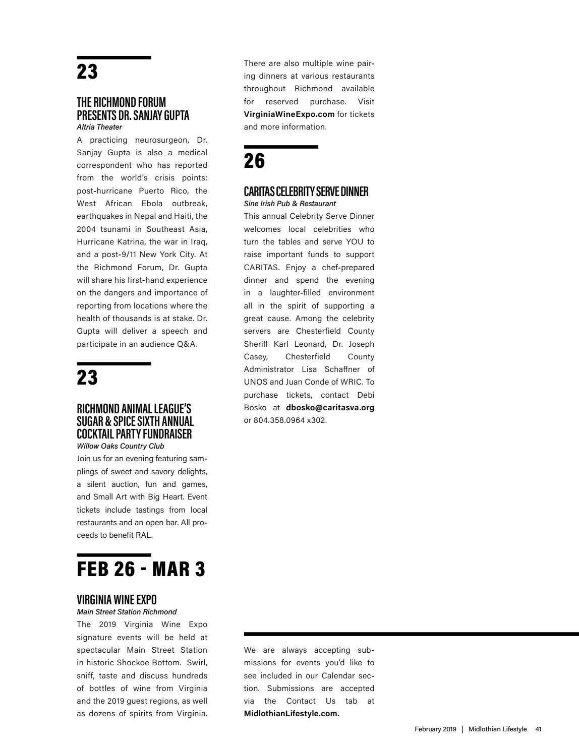 Richmond Va February 2019 Calendar Midlothian, VA February 2019 by Lifestyle Publications   issuu