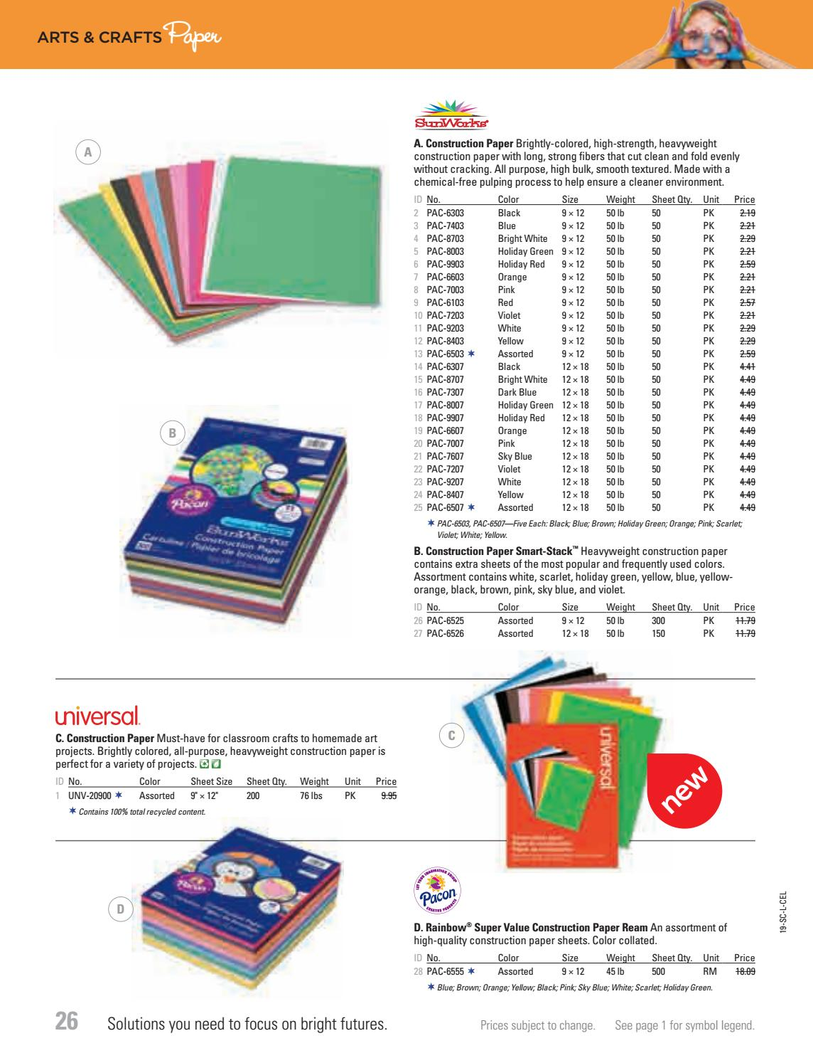 PACON 9x12 Rainbow Super Value Construction Paper Ream Pack of 2, Multi Assorted