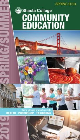 Shasta College Tehama Campus Map.Shasta College Community Education Spring 2019 Catalog Of Classes By