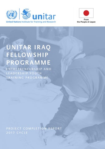 UNITAR Iraq Fellowship Programme 2017 Completion Report
