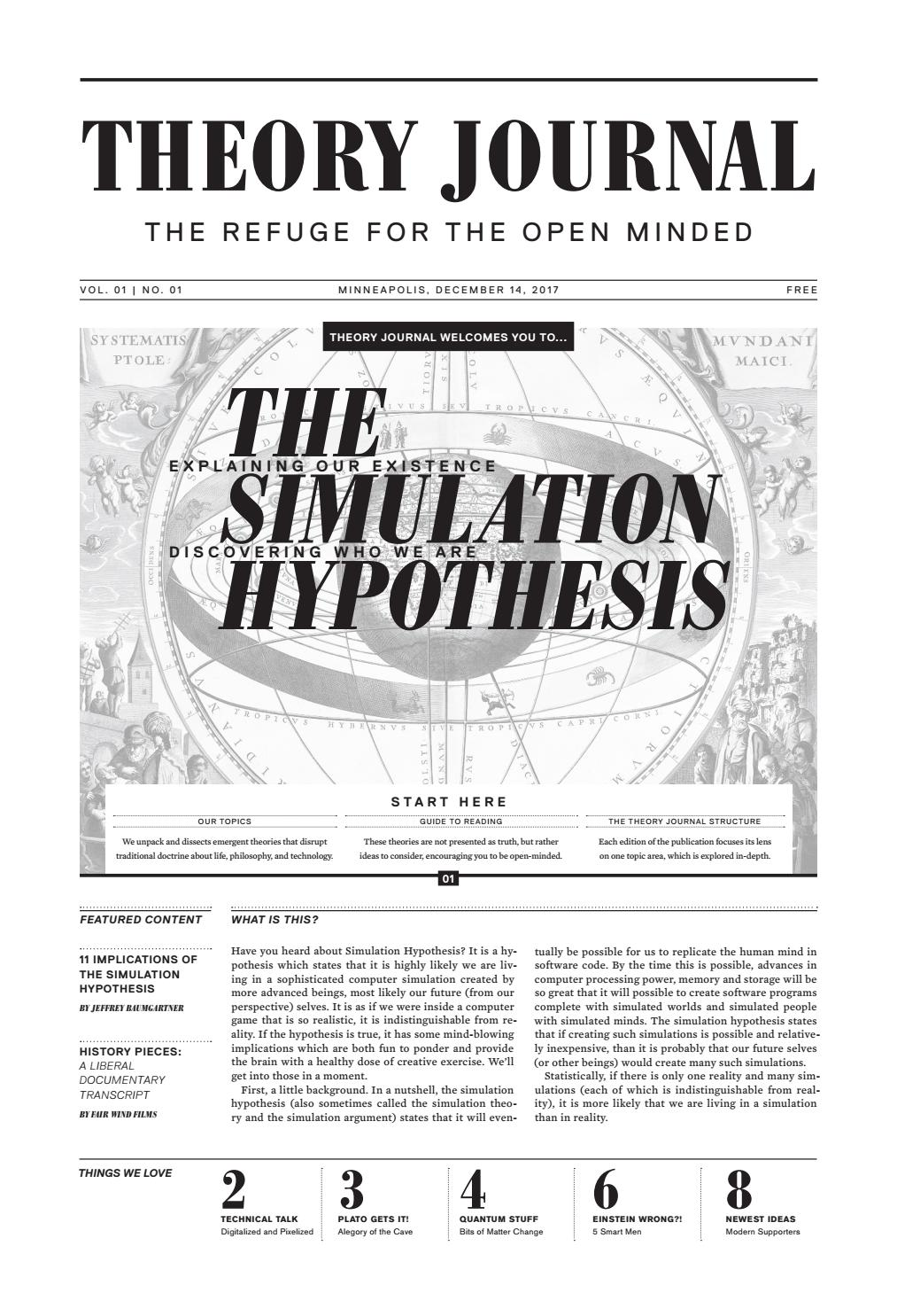 Simulation hypothesis