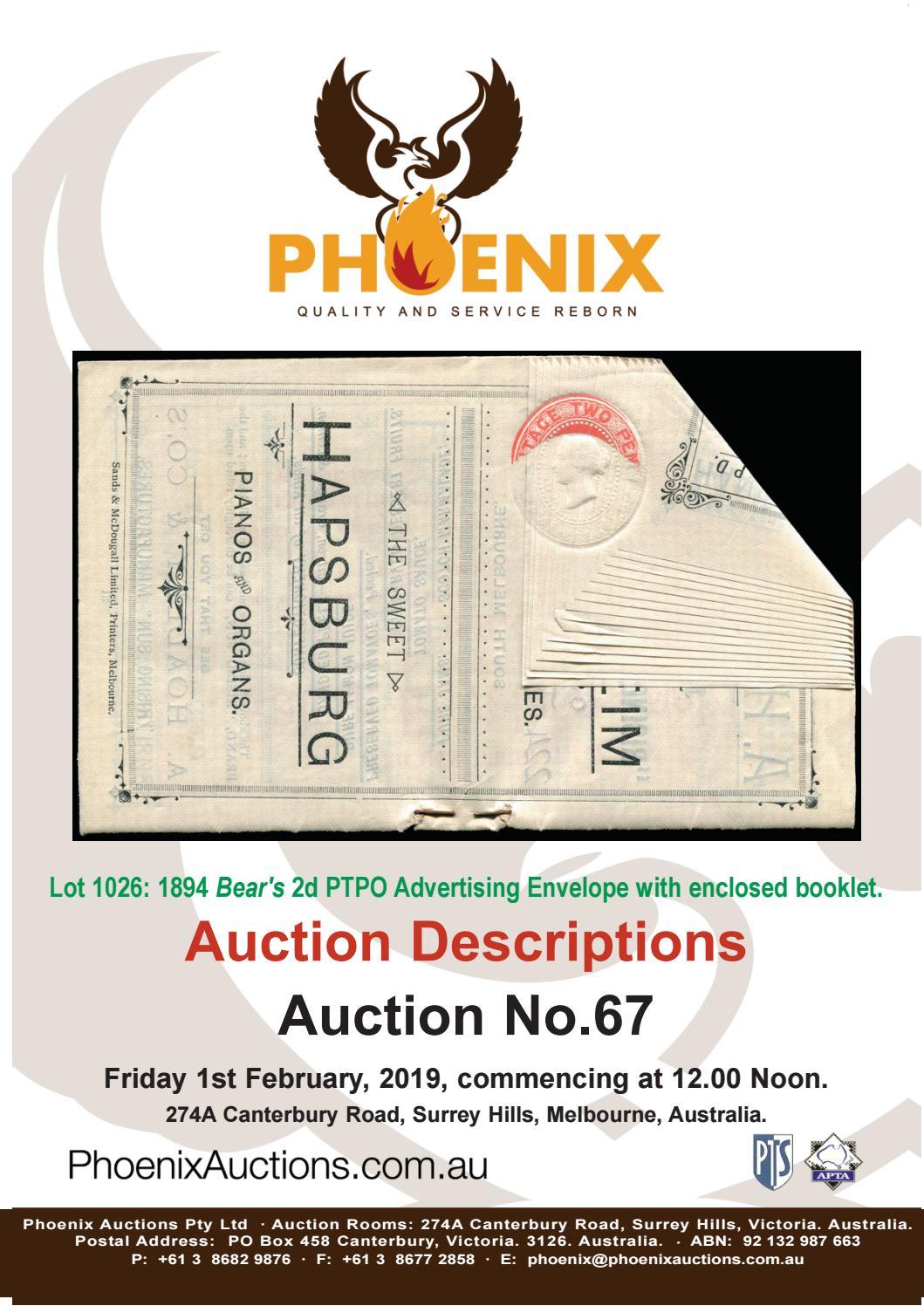 Phoenix Auctions #67 Text PDF by Phoenix Auctions Pty Ltd