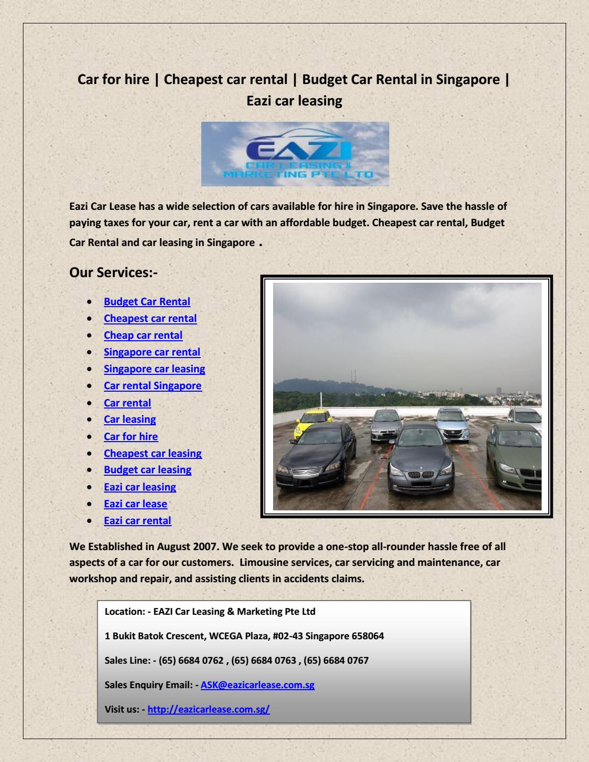 Cheapest Cars To Lease >> Car Rental By Ambros Terry Issuu