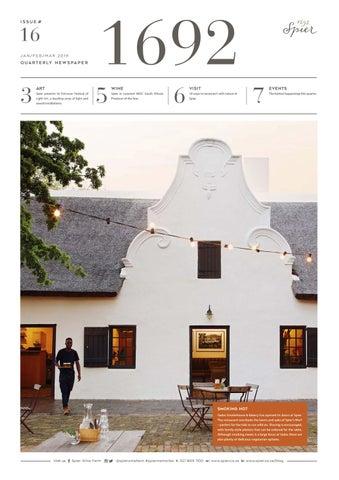 Spier Newspaper 16 by Spier Wines (Pty) Ltd issuu