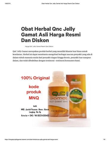 Harga QNC Jelly Gamat Resmi Cara Pemesanan Di DIstributor Terpercaya
