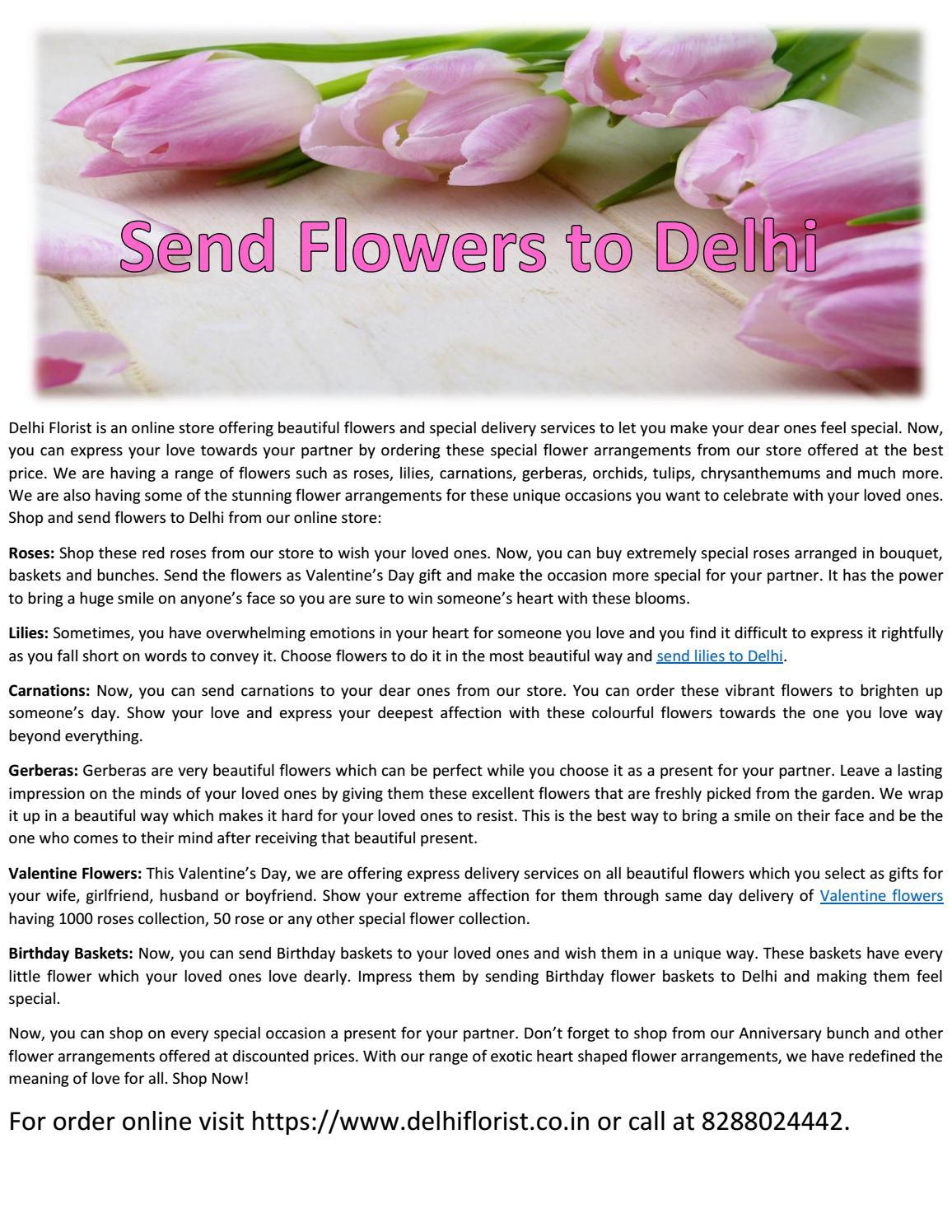 Send Flowers To Delhi by Delhi Florist - issuu