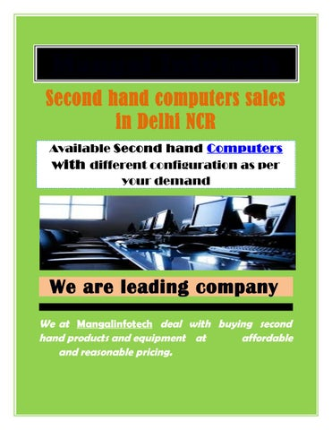 Second hand computers sales in Delhi NCR by