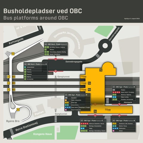 Kort Over Busholdepladser Ved Obc Odense Banegard Center