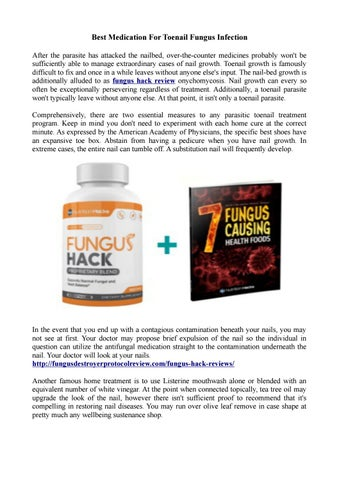 Best Medication For Toenail Fungus Infection by jacobwilliamm - issuu