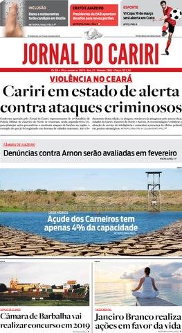 5e32df15ce Jornal do Cariri - 27 de novembro a 3 de dezembro de 2018 by Ceará ...
