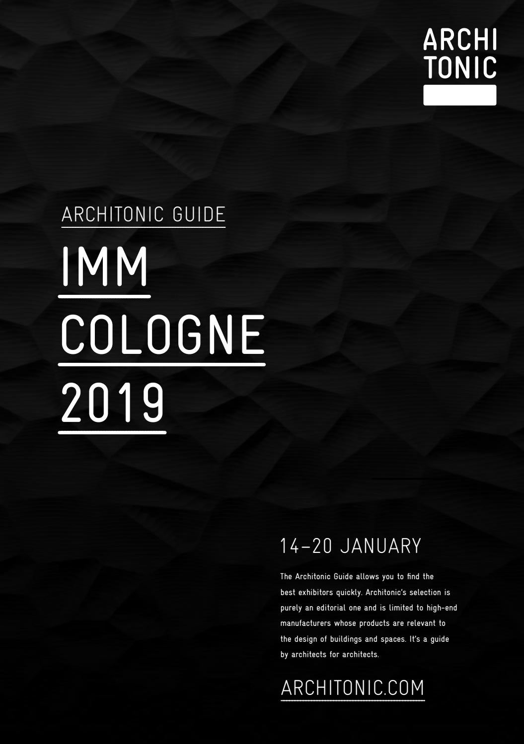 Architonic Guide Imm Cologne 2019 By Gärtner Internationale