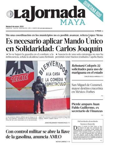 La Jornada Maya · martes 8 de enero de 2019 by La Jornada Maya - issuu e799b435a9