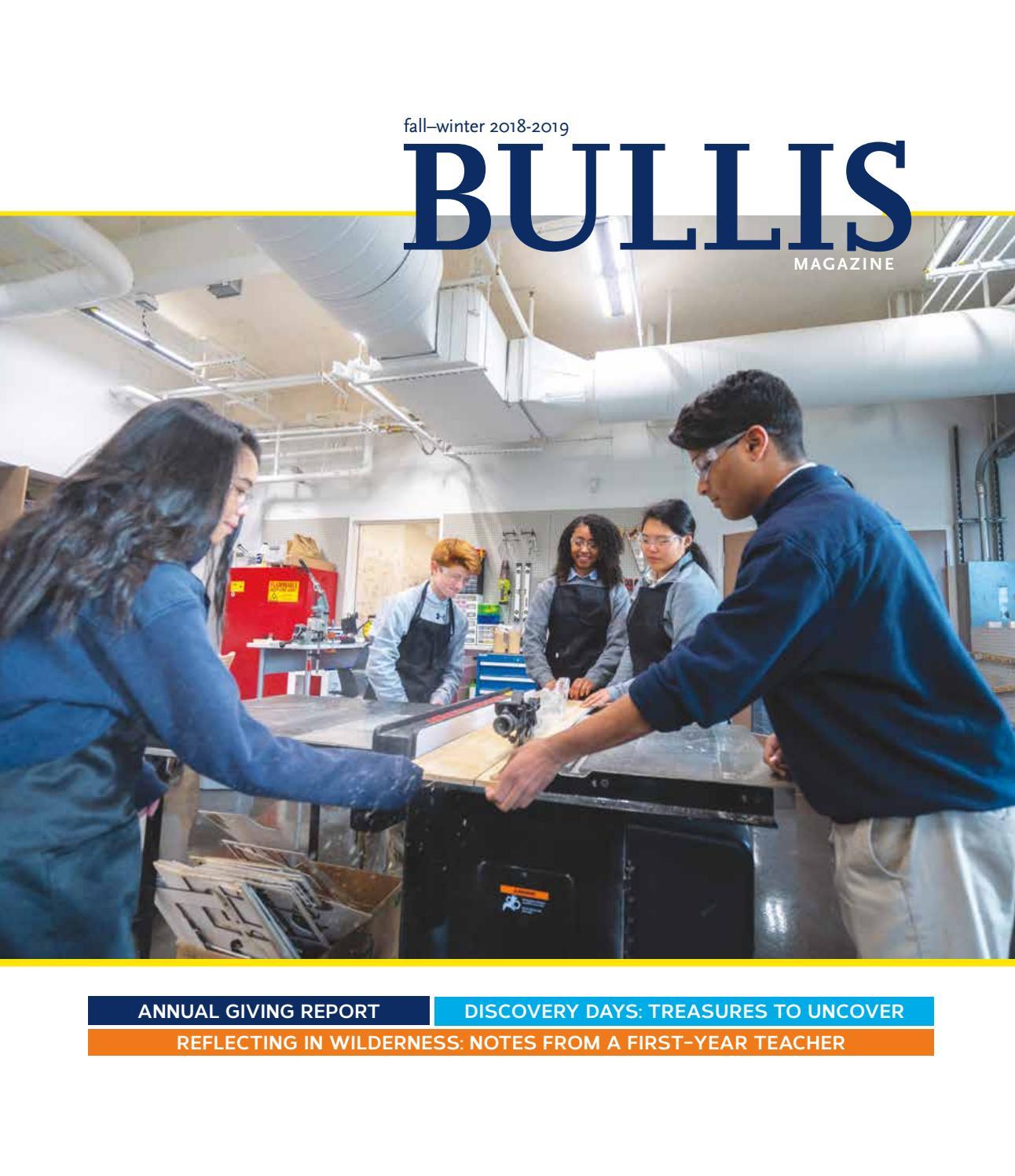 Bullis Magazine Fall/Winter 2018-2019 by Bullis School - issuu