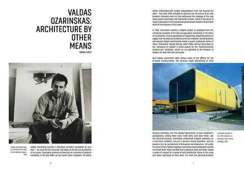 Page 5 of Valdas Ozarinskas: Architecture by other means