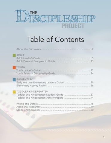 The Discipleship Project Preview by Pentecostal Life - issuu
