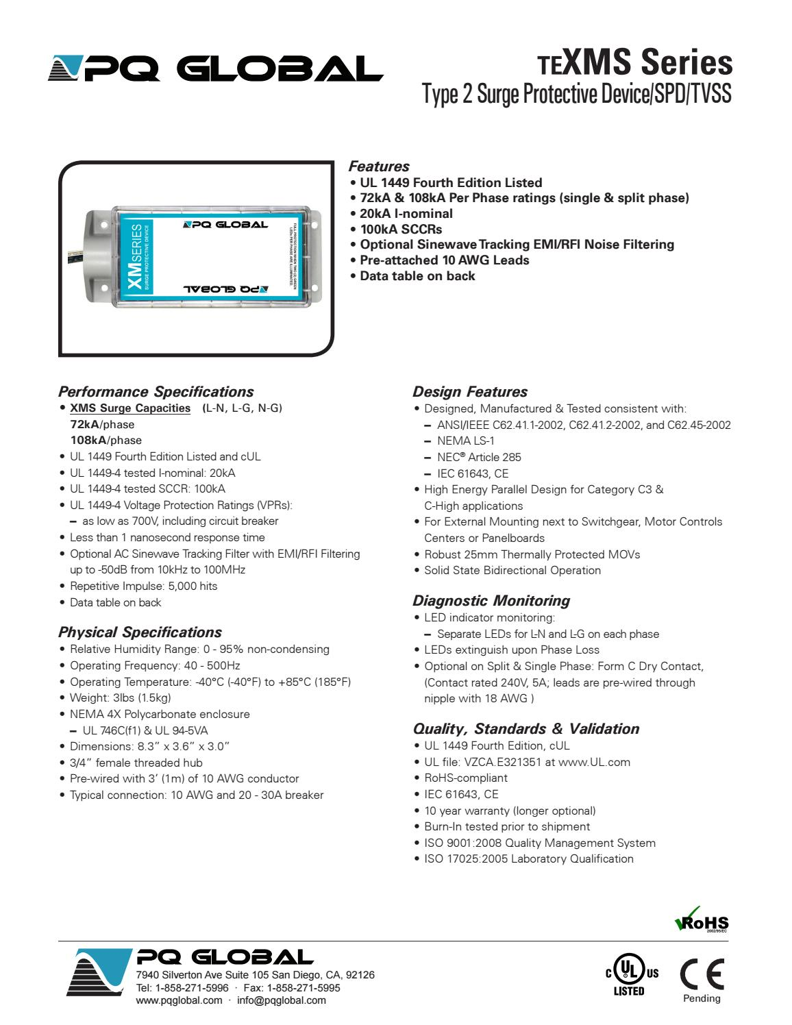 Supresor de Picos PQ Global TeXMS Te XMS Series - Secovi by