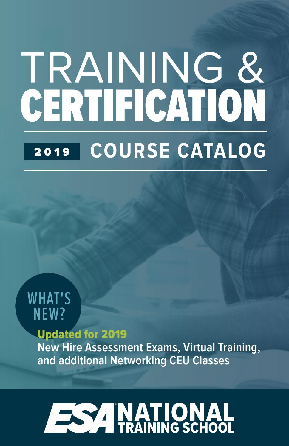 2019 Esa Nts Training Certification Course Catalog By