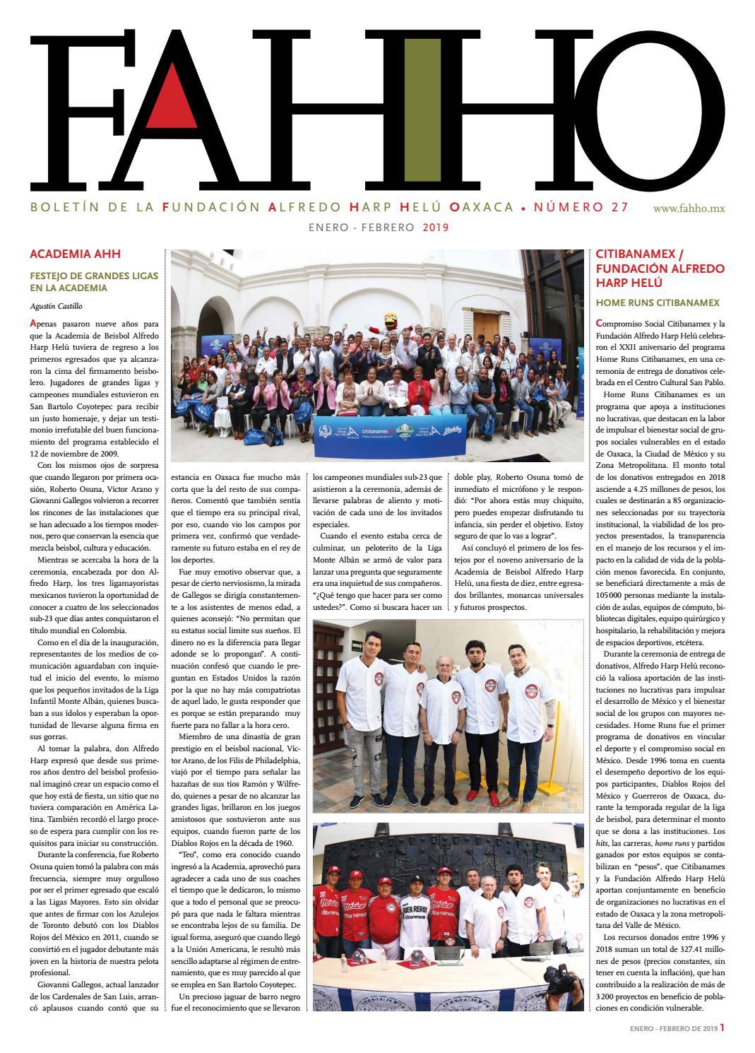 Boletín FAHHO ene - feb 2019 by Fundación Alfredo Harp Helú Oaxaca - issuu 9758f30a831