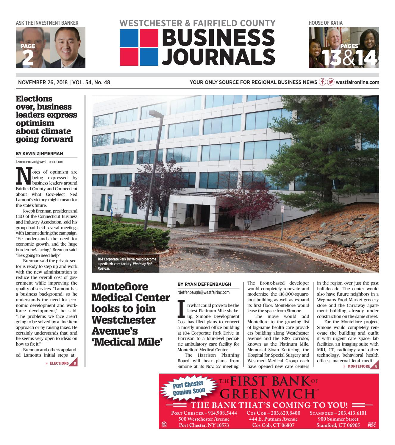 ddeced4d8d0f6 Westchester   Fairfield County Business Journals 112618 by Wag Magazine -  issuu