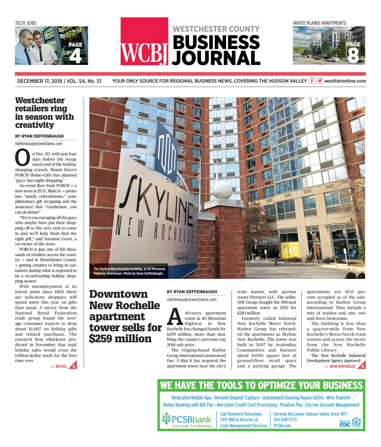 Westchester County Business Journal 121718 By Wag Magazine Issuu
