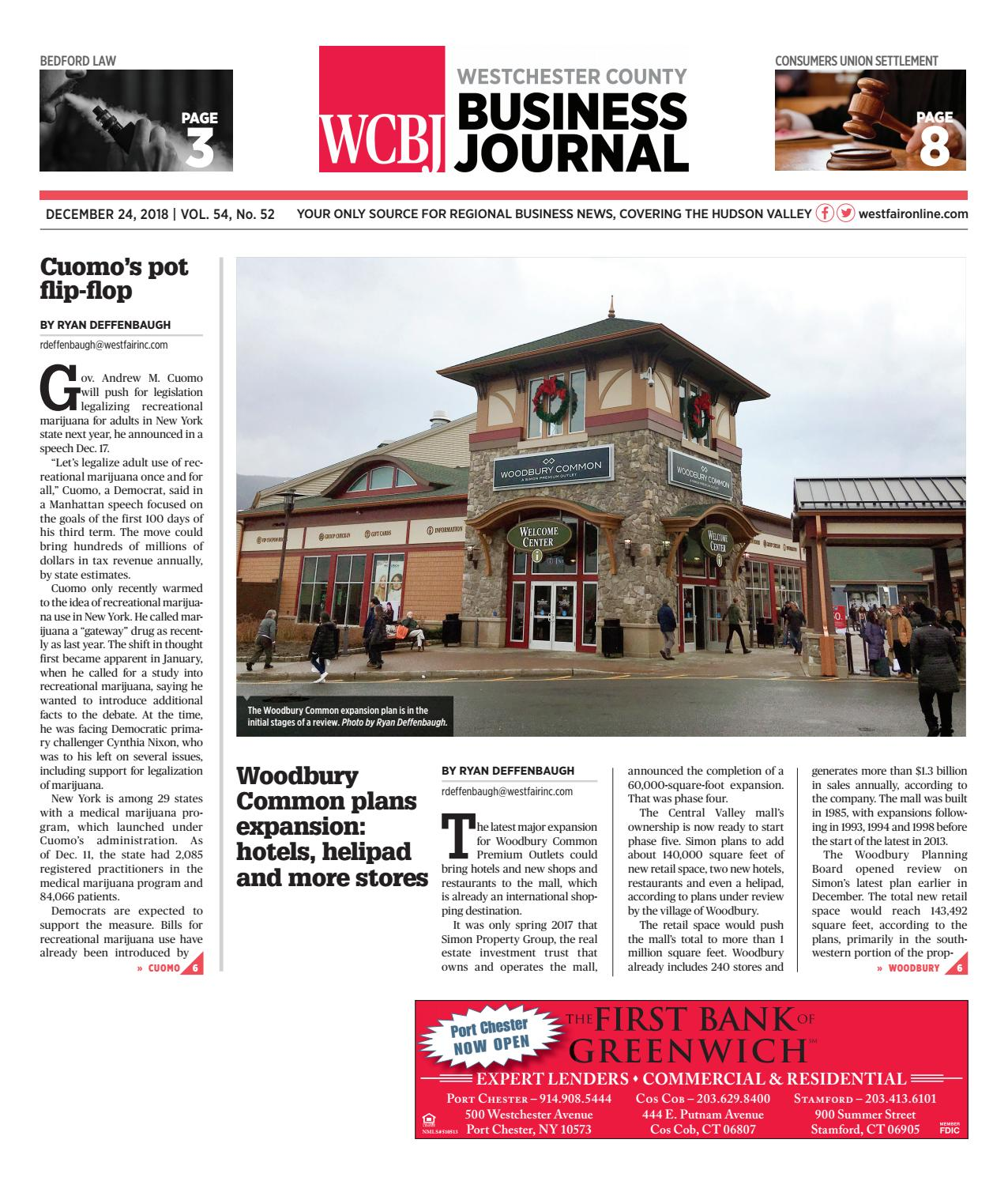 Westchester County Business Journal 122418 By Wag Magazine Issuu