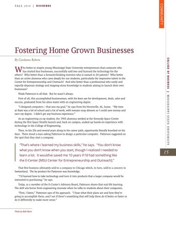 Page 17 of Fostering Home Grown Businesses