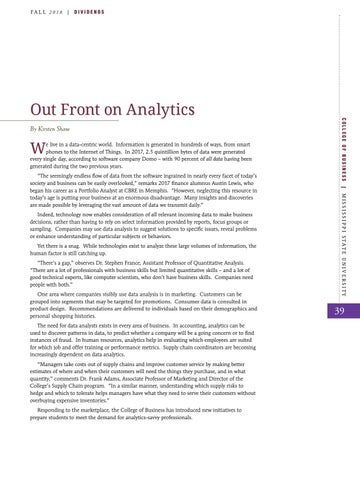 Page 41 of Out Front on Analytics