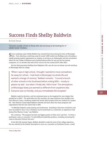 Page 61 of Success Finds Shelby Baldwin