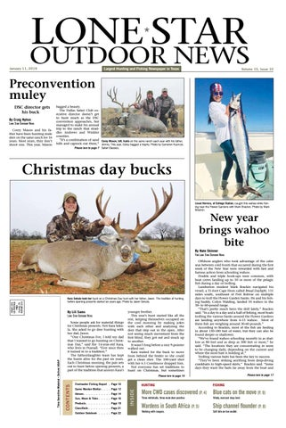 8e77b63209 January 11 , 2019 - Lone Star Outdoor News - Fishing & Hunting by ...