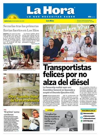 6ece7ef6903b Los Ríos 09 de enero de 2019 by Diario La Hora Ecuador - issuu