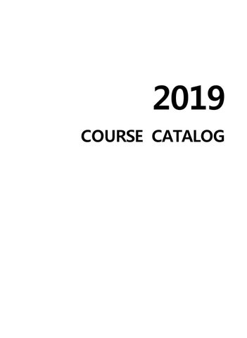 UNIST 2019 Course Catalog by PR-Team Unist - issuu