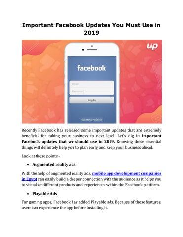 Facebook Latest Updates to Electrify Social Media Marketing