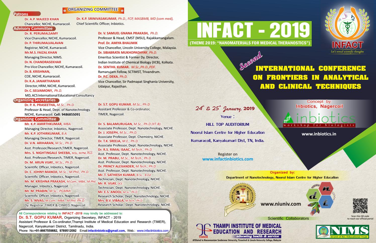 International Conference On Frontiers In Analytical & Clinical