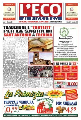 prezzo folle abbastanza carino dai un'occhiata Eco di Piacenza 10/01/2019 by Eco di Piacenza - issuu