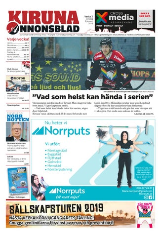 buy popular 2d8ed ac3f7 Kiruna Annonsblad vecka 02, 2019