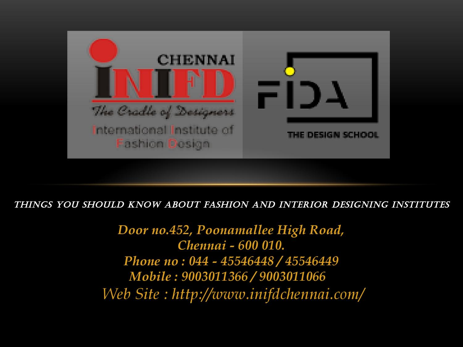Things You Should Know About Fashion And Interior Designing Institutes By Vikramkenny106 Issuu