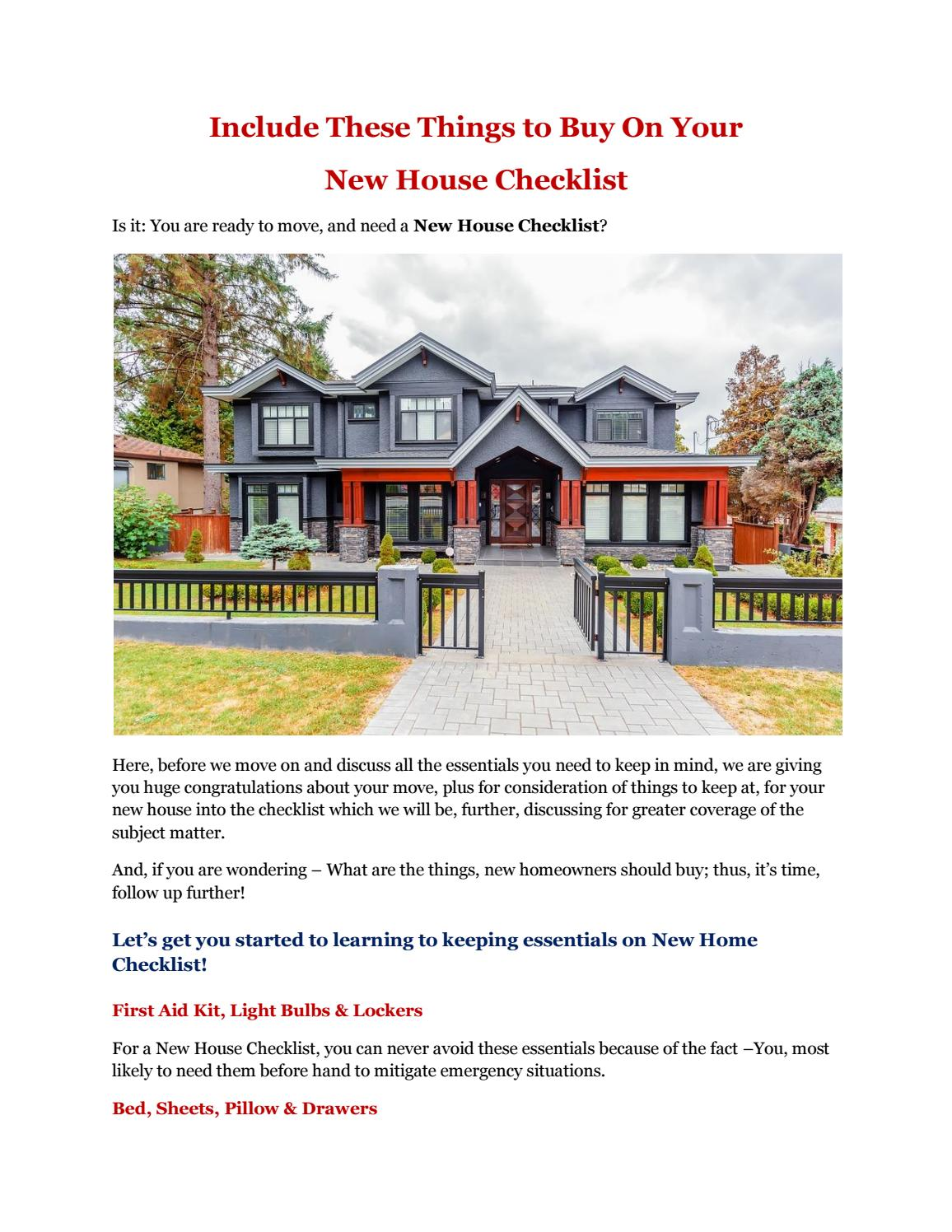 Include These Things To Buy On Your New House Checklist By Kpkrish012 Issuu,Rudolph The Red Nosed Reindeer And The Island Of Misfit Toys Hippo